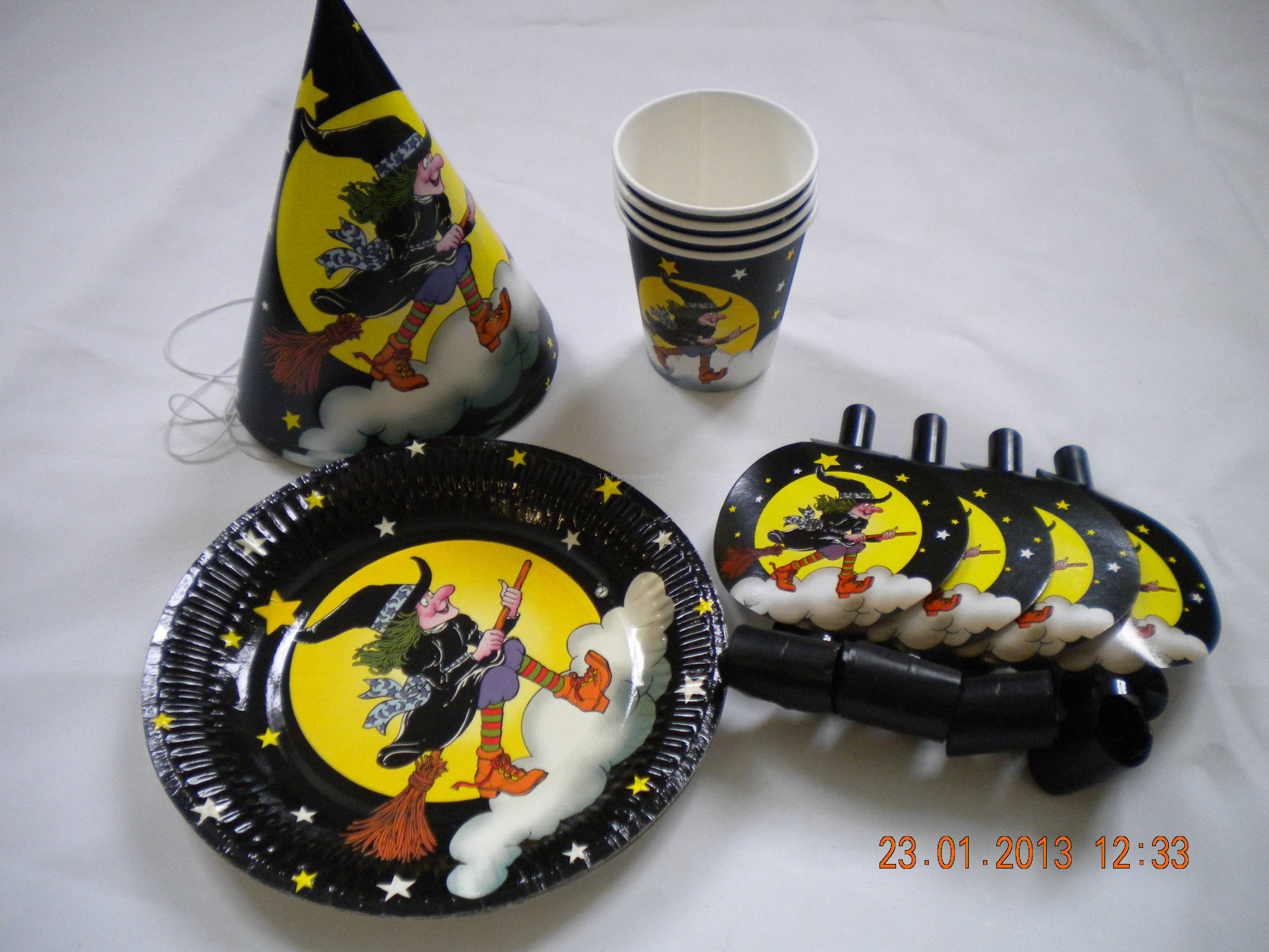 Party Set  Hexe Kinder Geburtstag Mottoparty
