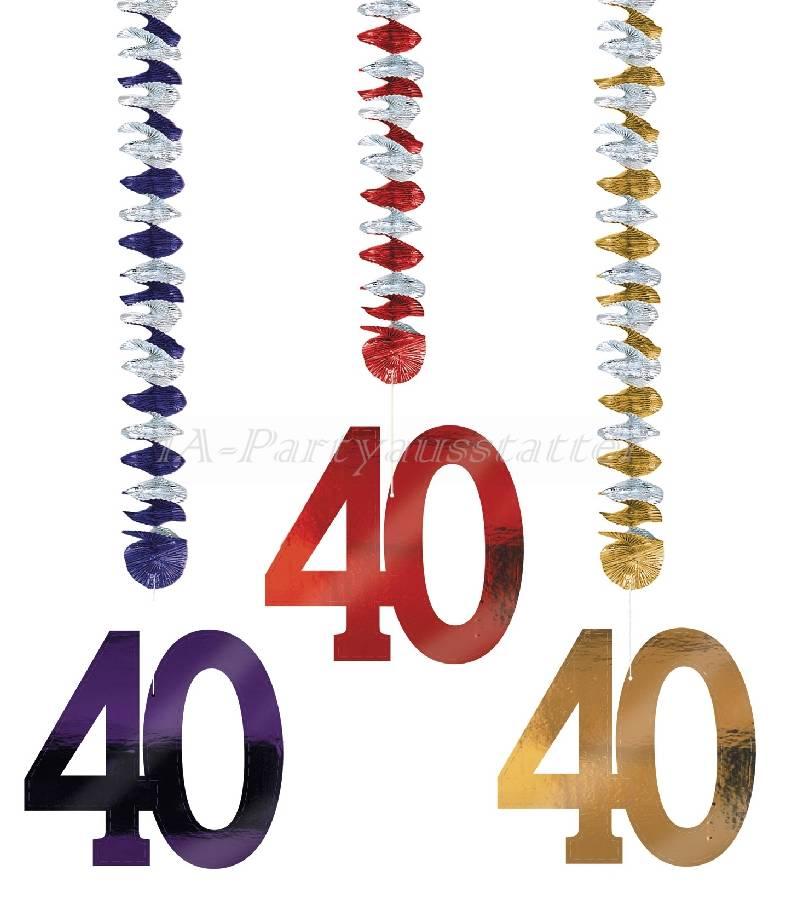 Rotorspiralen Zahl 40 bunt