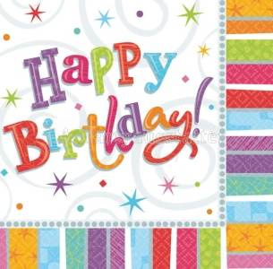 Servietten Happy Birthday 33x33 cm 16 St�ck Party