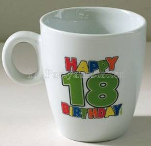 Tasse Happy Birthday 18. Geburtstag